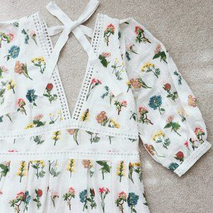 ANTHROPOLOGIE Carla Floral Broidery Maxi Dress 14